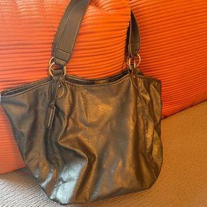Tommy Hilfiger bronze metallic shoulder bag